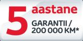 5 aastat garantii (Proace, Proace Verso)
